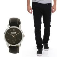 Stylox Jeans With Watch_Dnwhd1003
