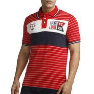Branded Cotton Slim Fit Tshirt_Fmr01 - Red & White