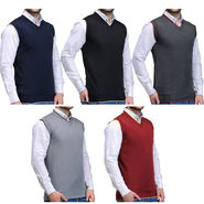 Pack of 5 Sleeveless Sweaters For Men_Spk5