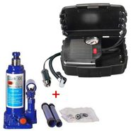 Combo of Air Compressor and 2 Ton Bottle Jack