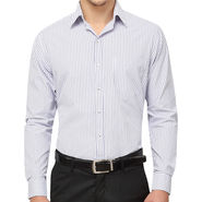 Copperline 100% Cotton Shirt For Men_CPL1172 - White & Blue