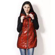 Yellow Tree Designer Polyester Orange Sleeveless Jacket_Yt02