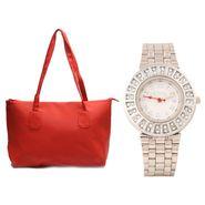 Fidato Combo of 1 Watch For Women + 1 Handbag_Fdwc24