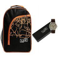 Fidato Combo of 1 Watch For Men + 1 Backpack_Fdwc84
