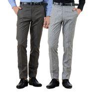 Pack of 2 American Elm Formal Trousers For Men_Tr37