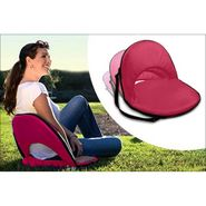 Kawachi Portable Reclining Yoga Chair With 6 Adjustable Positions And Shoulder Strap-Pink