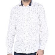 Crosscreek Full Sleeves Cotton Shirt For Men_1060309 - White