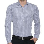 Being Fab Checks Shirt For Men_Bfwdc107 - White & Black