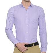 Being Fab Checks Shirt For Men_Bfwdc110 - White & Purple
