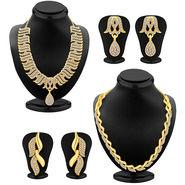 Combo of 2 Sukkhi Austrian Diamond Necklace Sets_289CB1500