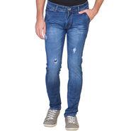 Slim Fit Stretchable Jeans For Men_Fpj152 - Blue