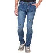 Slim Fit Stretchable Jeans For Men_Fpj153 - Blue
