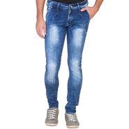 Slim Fit Stretchable Jeans For Men_Fpj162 - Blue