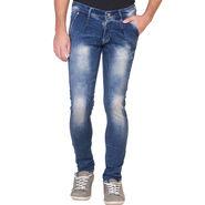 Slim Fit Stretchable Jeans For Men_Fpj164 - Blue