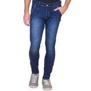 Slim Fit Stretchable Jeans For Men_Fpj165 - Blue