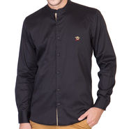 Full Sleeves Shirt For Men_RcstBk - Black