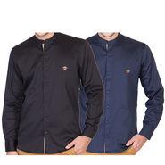 Pack of 2 Full Sleeves Shirt For Men_RcstBkn - Multicolor