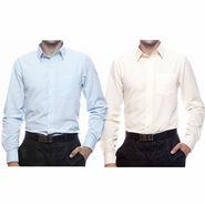 Pack of 2 Full Sleeves Shirts For Men_S716264 - Sky Blue & Orange