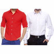 Pack of 2 Full Sleeves Shirts For Men_S716898 - Red & White