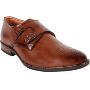 Yellow Tree Leatherette Coffee Formal Shoes -ys12