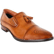 Yellow Tree Leatherette Tan Formal Shoes -ys15