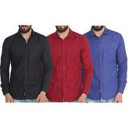 Pack of 3 Pelican Slim Fit Cotton Shirt For Men_Cs010204