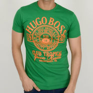 Hugo Boss Cotton Slim Fit Half Sleeves Tshirt_ythb18 - Green