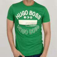 Hugo Boss Cotton Slim Fit Half Sleeves Tshirt_ytatheltic - Green