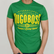 Hugo Boss Cotton Slim Fit Half Sleeves Tshirt_ytglobally - Green