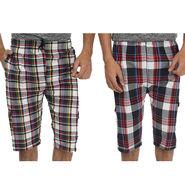 Pack of 2 Fizzaro Cotton Capris For Men_Fzbc0102 - Multicolor