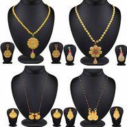 Beautiful Combo of 4 Filligeri Pendant Sets & Gold Finish Mangalsutra Set_Cm430