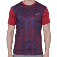 Nike Printed Regular Fit Tshirt_Nikered - Red