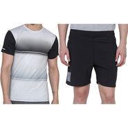 Combo of 1 Adidas Casual Short & 1 Plain Full Sleeves Tshirt_Os016