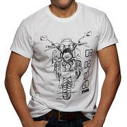 FHM Round Neck Half Sleeves Printed Tshirt_Fhmtmgb1 - White