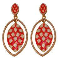 Kriaa Pearl Meenakari Earrings _1303104