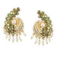 Kriaa Meenakari Pearl Earrings _13037101