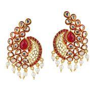 Kriaa Meenakari Kundan Pearl Austrian Stone Earrings  _1303764