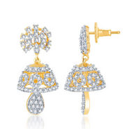 Sukkhi Traditional Gold and Rhodium Plated CZ Jhumki