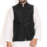 Zion Blended Cotton Jacket For Men_zmj102 - Black