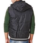 Zion Polyester Jacket For Men_zmj112 - Black