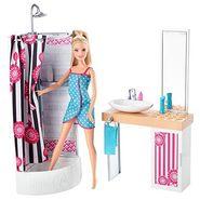 Mattel Barbie Doll and Bathroom Furniture Set