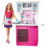 Mattel Barbie Doll and Deluxe Kitchen Set