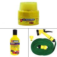 Speedwav Bike Cleaning Kit Water Spray Gun + Abro Shampoo + Super Gold Wax_34986