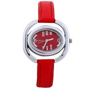 Adine Round Dial Analog Wrist Watch For Women_40rr016 - Red