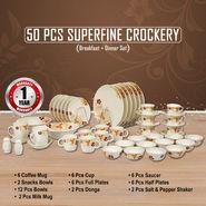 50 Pcs Superfine Crockery Set