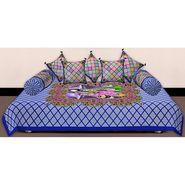 Set of 8 Priya Fashions Cotton King Size Jaipuri Printed Diwan Set-70X100DW1