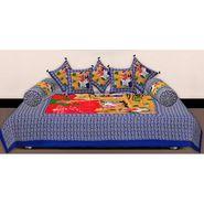 Set of 8 Priya Fashions Cotton King Size Jaipuri Printed Diwan Set-70X100DW10