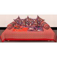 Set of 8 Priya Fashions Cotton King Size Jaipuri Printed Diwan Set-70X100DW12