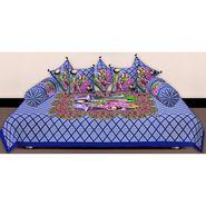 Set of 8 Priya Fashions Cotton King Size Jaipuri Printed Diwan Set-70X100DW4