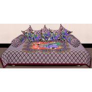 Set of 8 Priya Fashions Cotton King Size Jaipuri Printed Diwan Set-70X100DW7